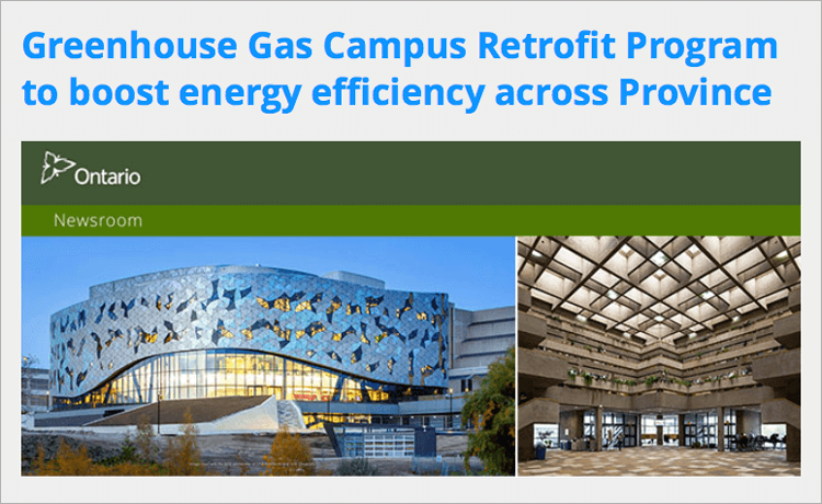 Greenhouse Gas Campus Retrofit Program to boost energy efficiency across Province